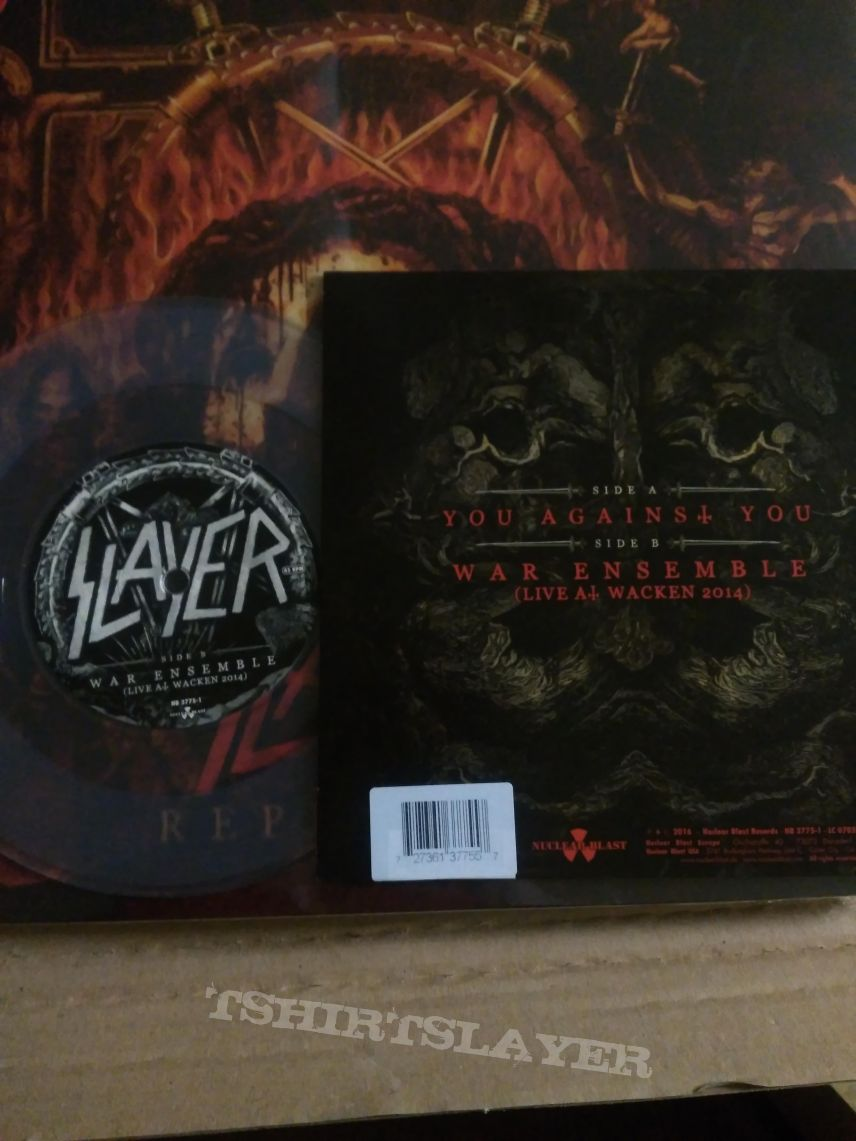 """Slayer - you against you , 7"""" clear vinyl"""