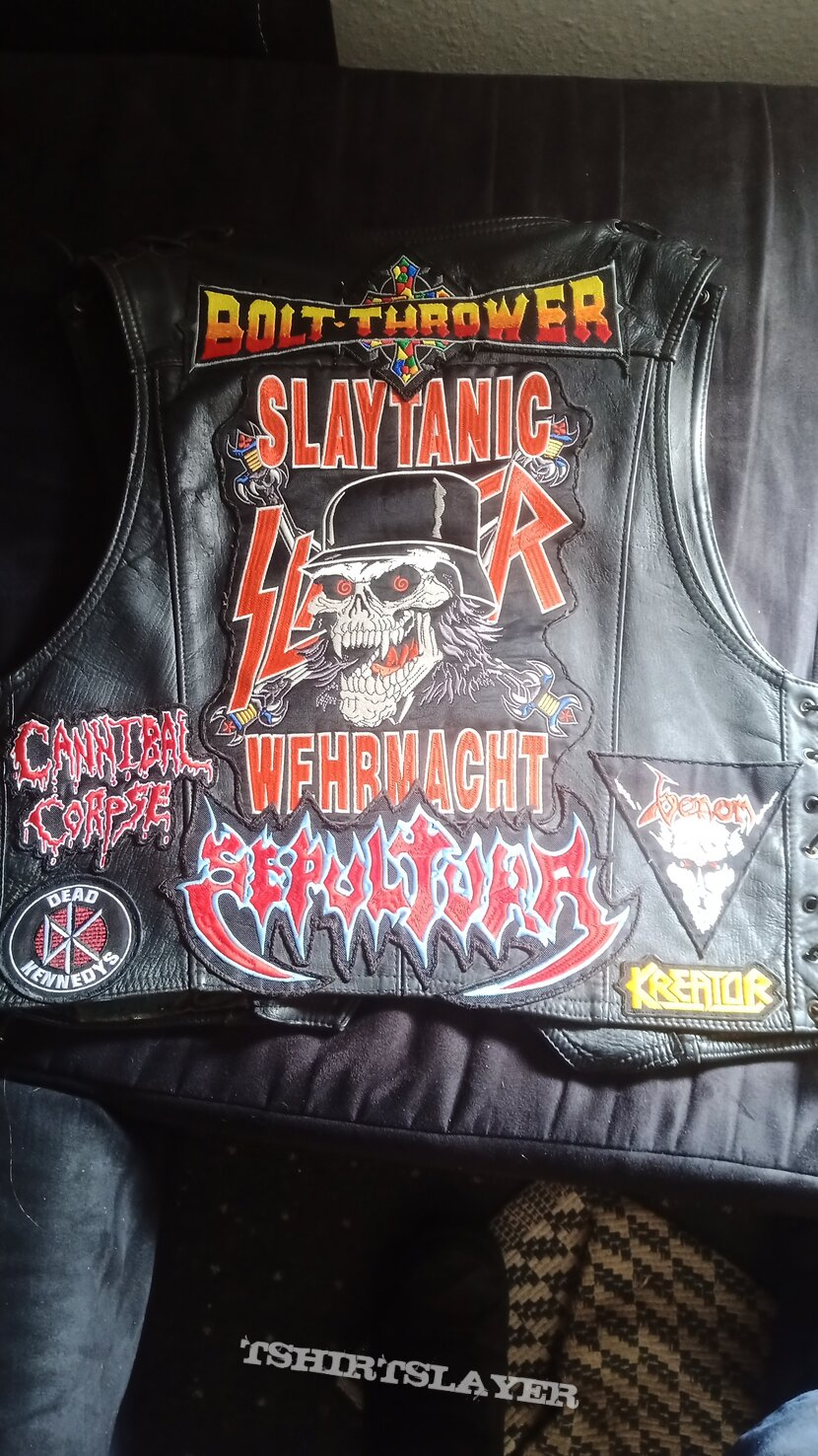 Leather battle vest update