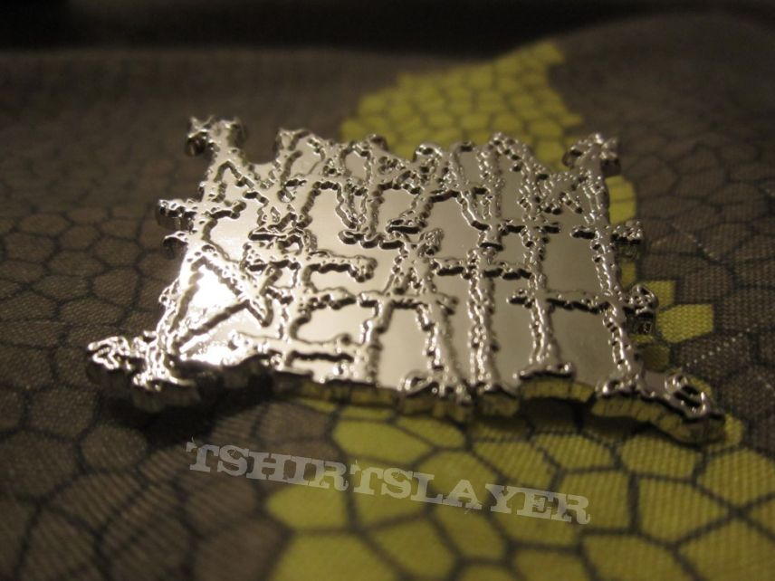 Napalm Death - logo pin  - got from tour merch table