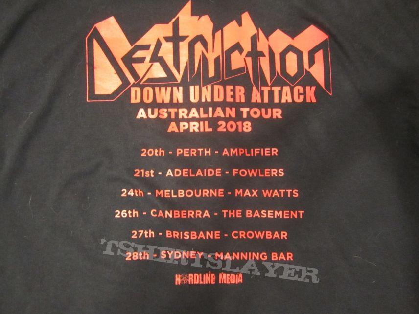 Destruction - Logo - Australian 2018 tour shirt