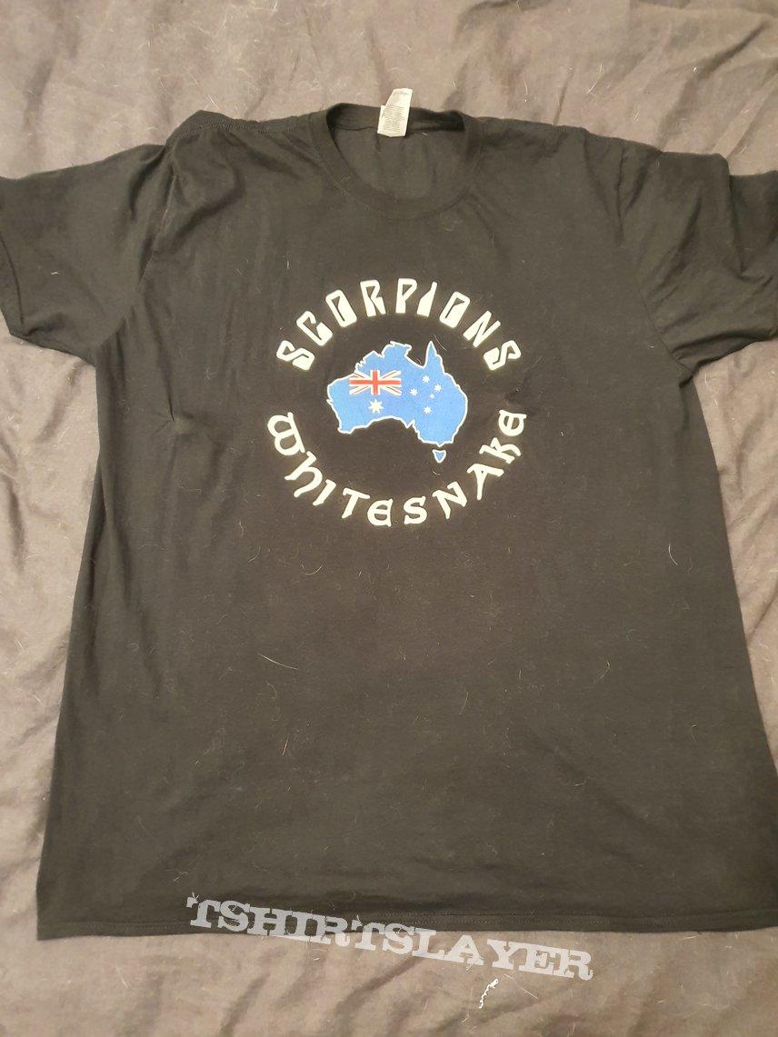 Whitesnake and Scorpions - 2020 Australian tour - Fire appeal tshirt