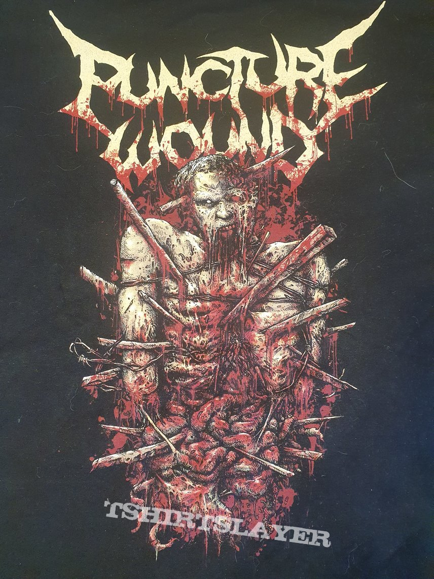 """Puncture Wound - logo with the """"Punctured One"""""""
