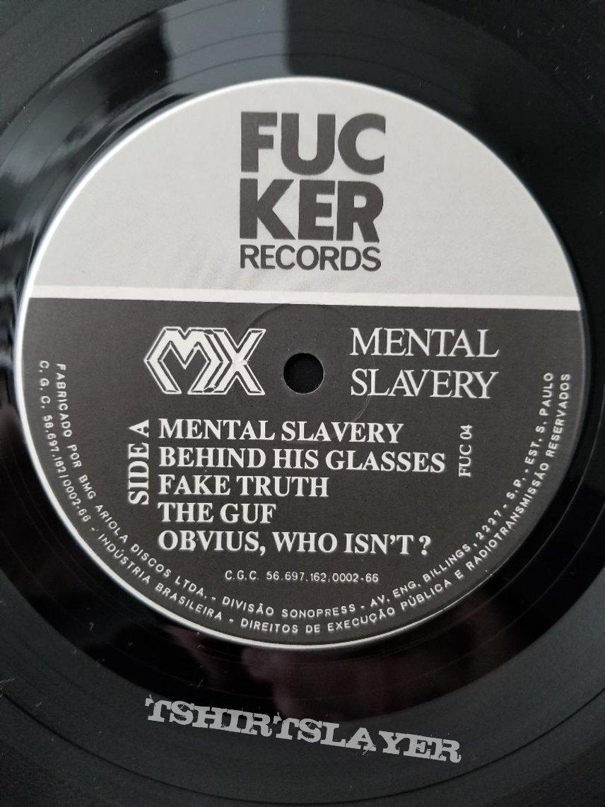 MX ' Simoniacal ' + ' Mental Slavery ' Original Vinyl LPs +  Fucker Records Label T-Shirt