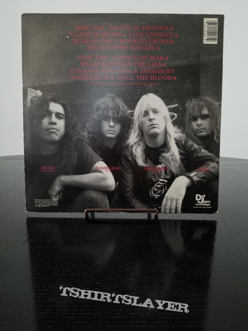 Slayer ' South Of Heaven ' Original Vinyl LP + Promotional Posters + Ads