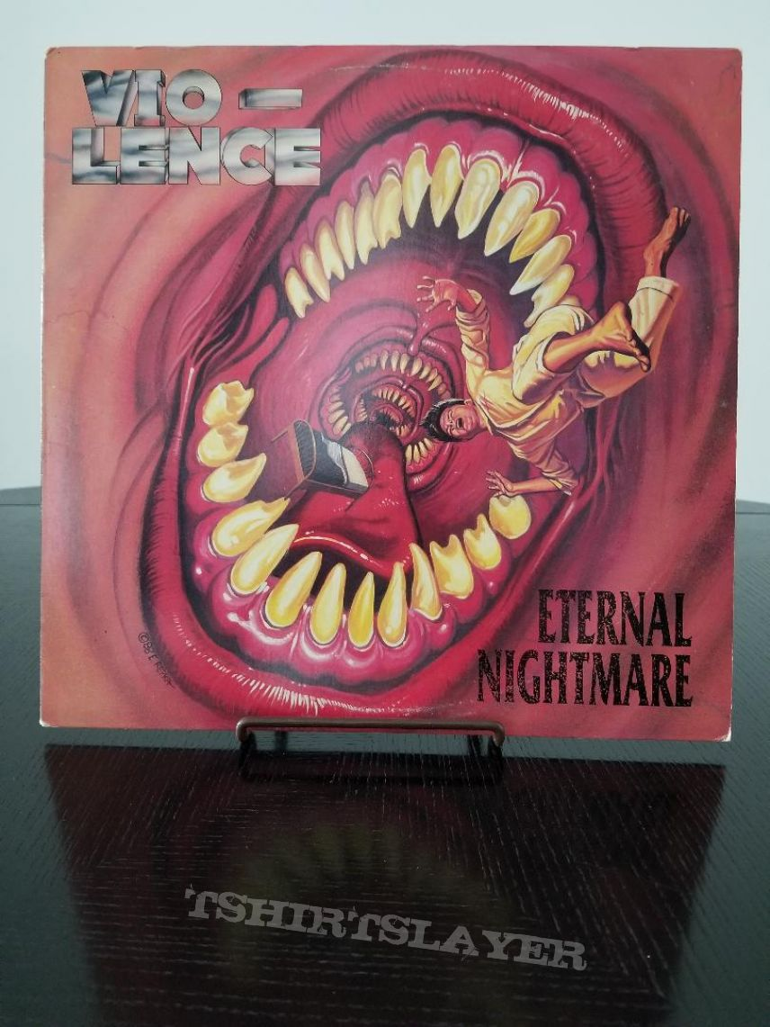 Vio-Lence ' Eternal Nightmare ' Original Vinyl LP + Limited Deluxe Reissue Hand Screened Jacket Edition Vinyl LP + Promotional Poster + Ads