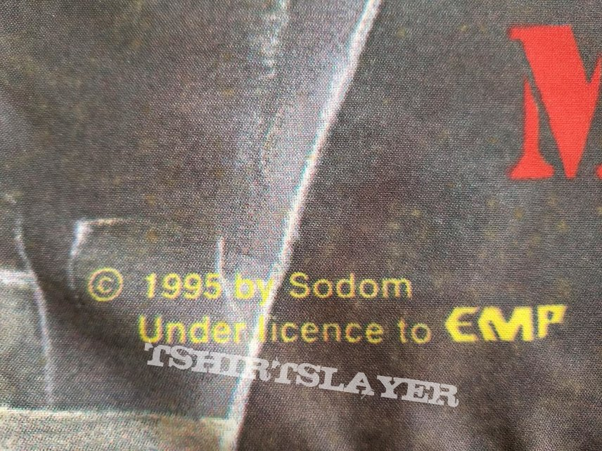 Sodom ' Masquerade In Blood ' Re-Issue LP + Promotional Ad + EMP Flag