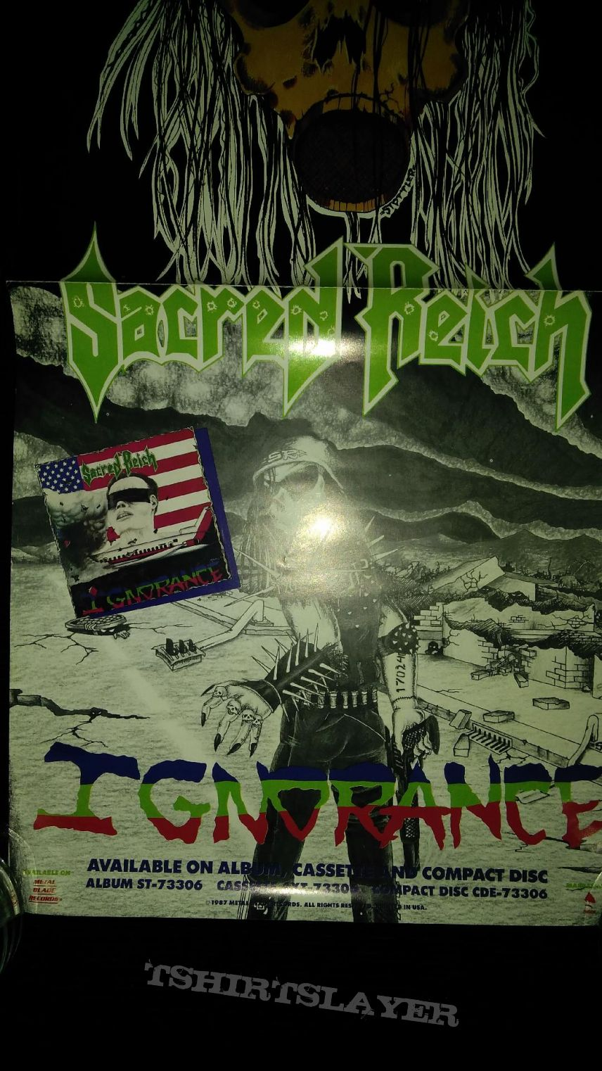 Sacred Reich Promo Poster for ' Ignorance ' LP