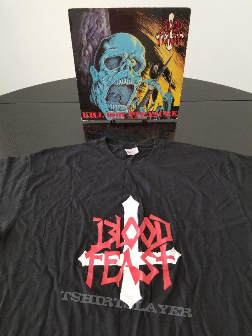 Blood Feast Original 1989 T-Shirt + Original LP + Autograph Photo + Fan Letter