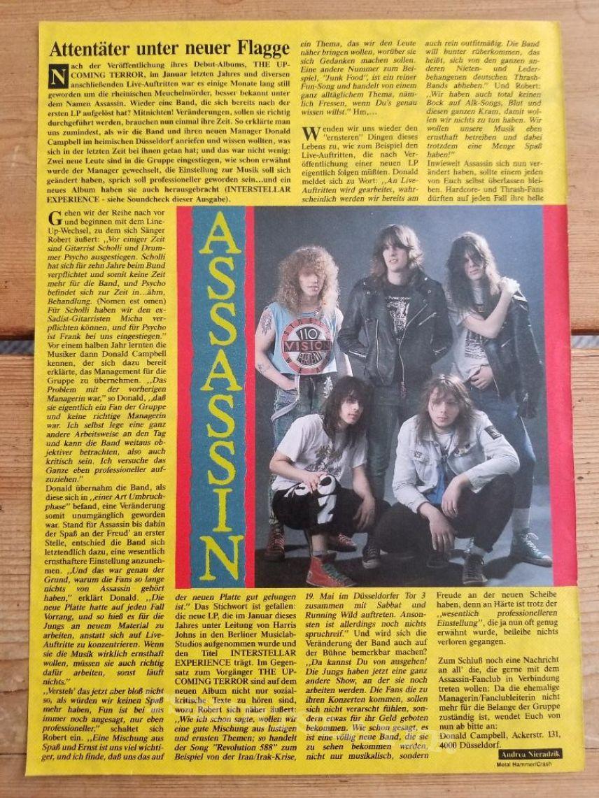 Assassin ' Interstellar Experience ' Original Vinyl LPs + Muscle Shirt + Promotional Poster + Ads