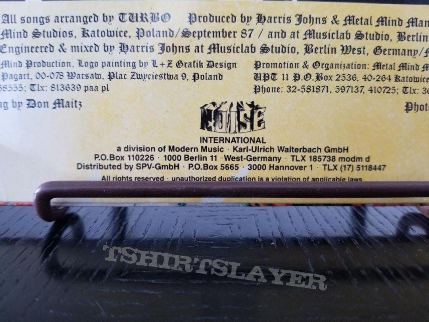 Turbo ' The Last Warrior ' Original Vinyl LP + Promotional Ad