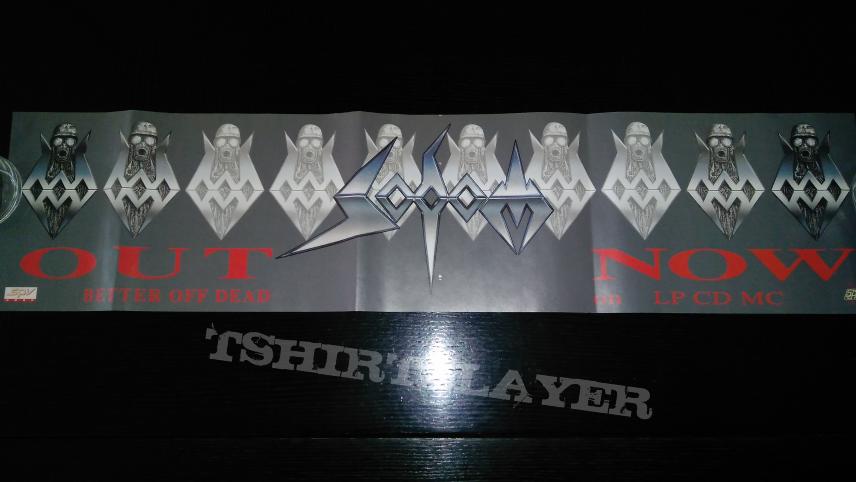 Sodom PROMO Banner for ' Better off Dead ' LP