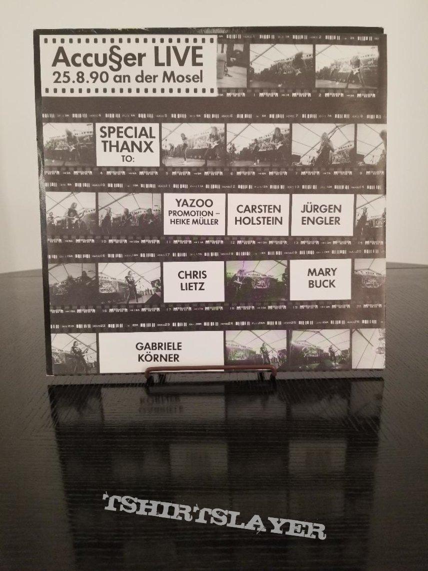 Accu§er ' Double Talk ' Original Vinyl LP + Poster