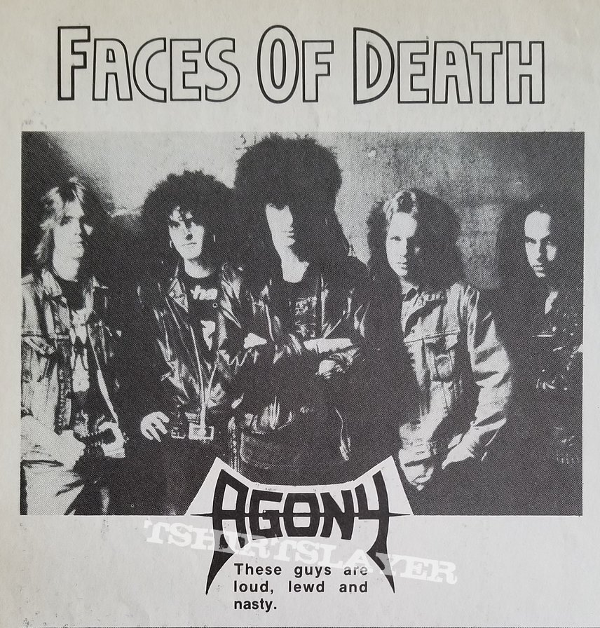 Agony ' The First Defiance ' Original Vinyl LP + Promotional Ad