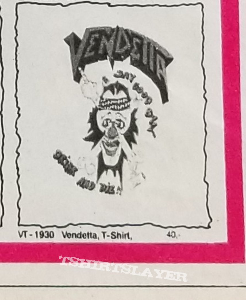 Vendetta ' Go And Live...Stay And Die ' Original Vinyl LP + Promotional Ads