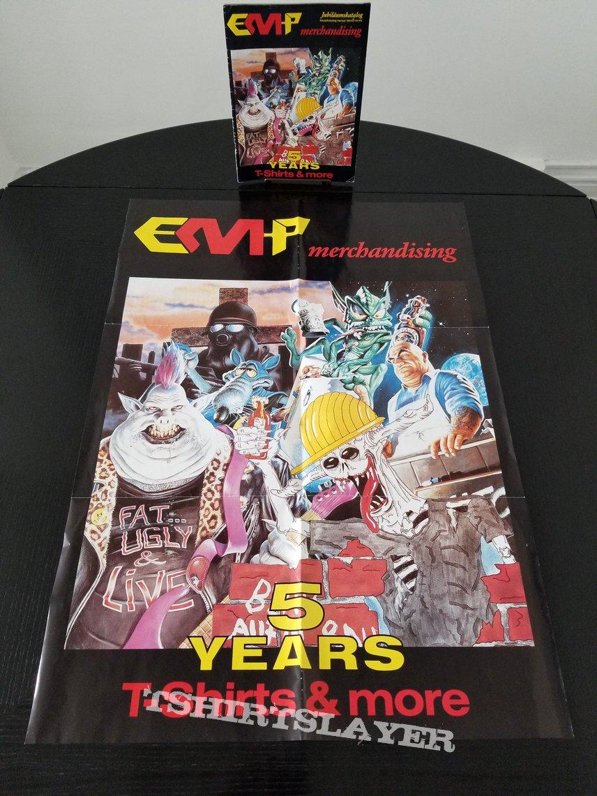 EMP  merchandising ' The First 5 Years ' Anniversary Poster + Sweatshirt