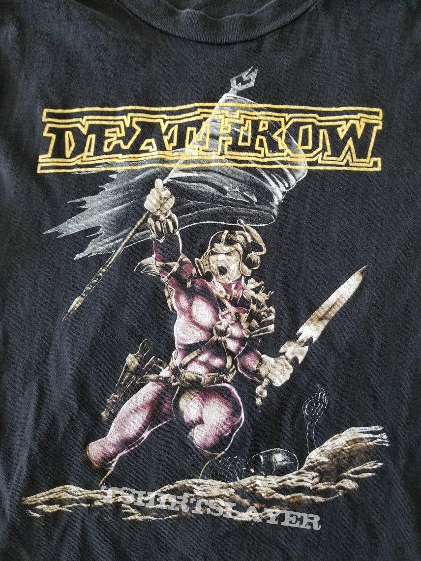 Deathrow ' Raging Steel ' Original Vinyl LP + Test Pressing + Original Muscle Shirt + Promotional Ads