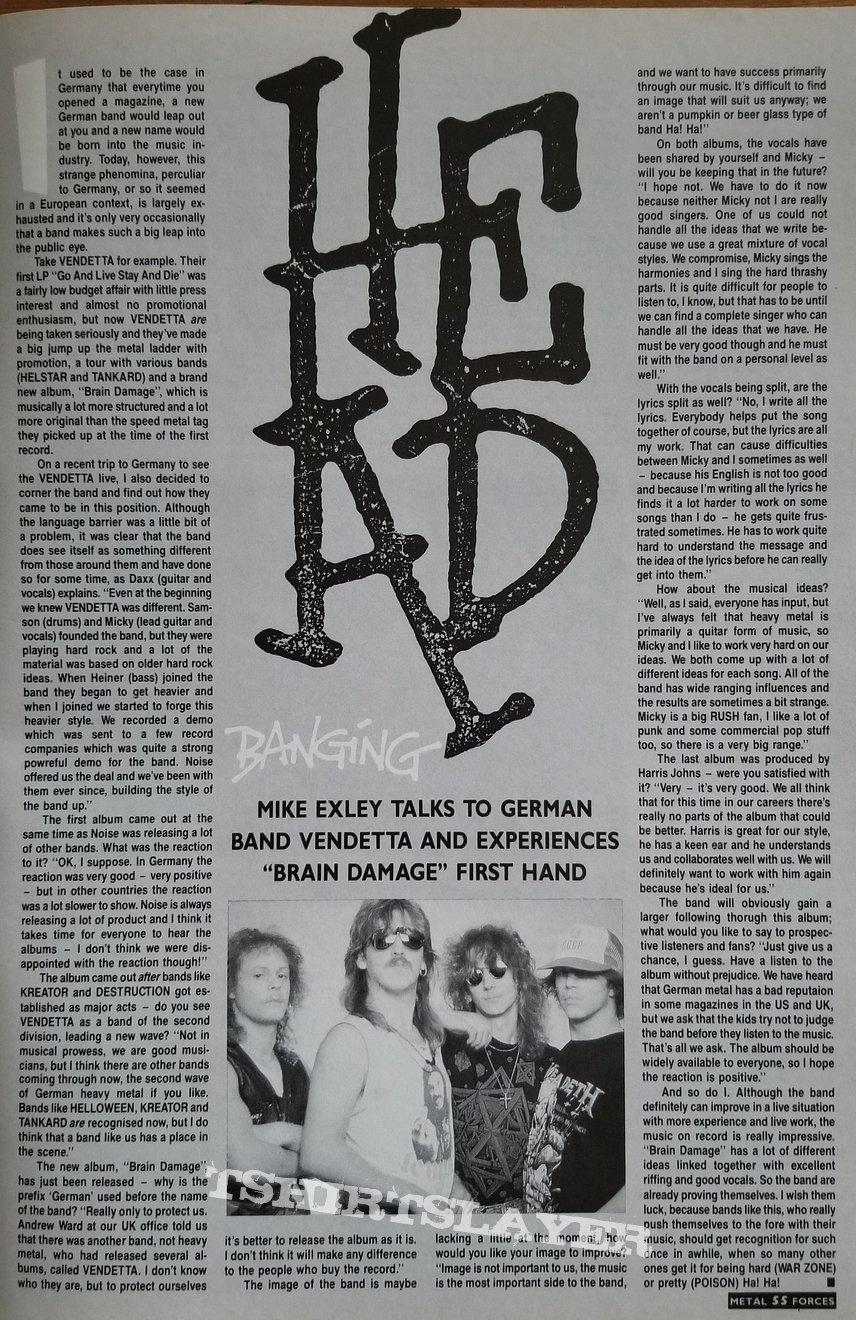 Vendetta ' Brain Damage ' Collection