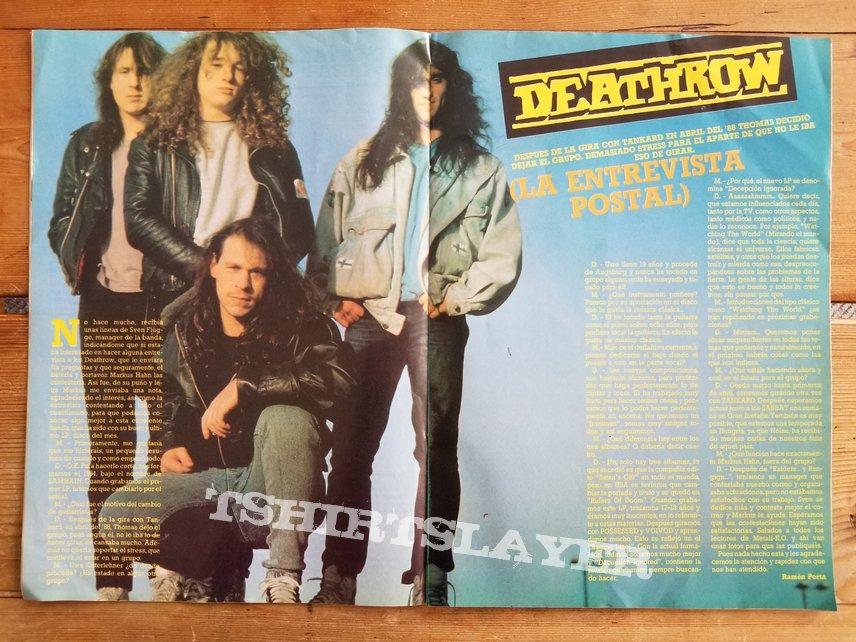 Deathrow ' Deception Ignored ' Original Vinyl LP + Promotional Ads