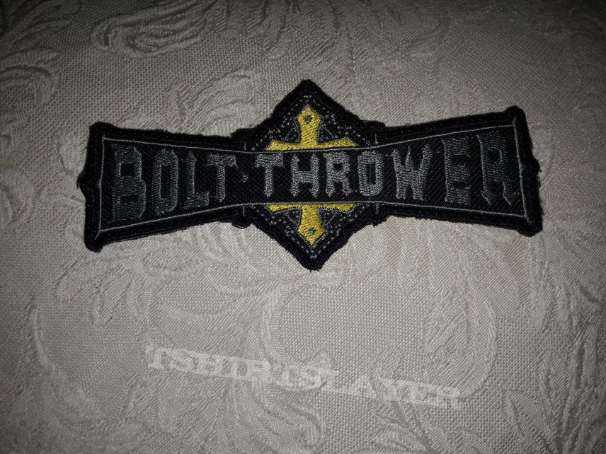 Bolt thrower back shapes logo patch