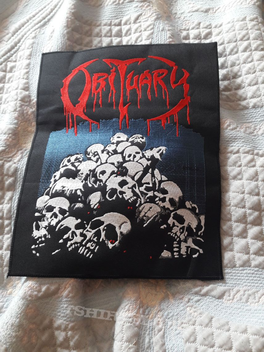 Obituary back patch