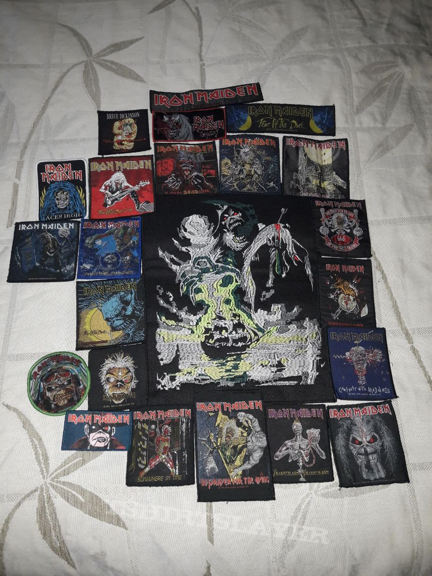 Iron Maiden patch collection