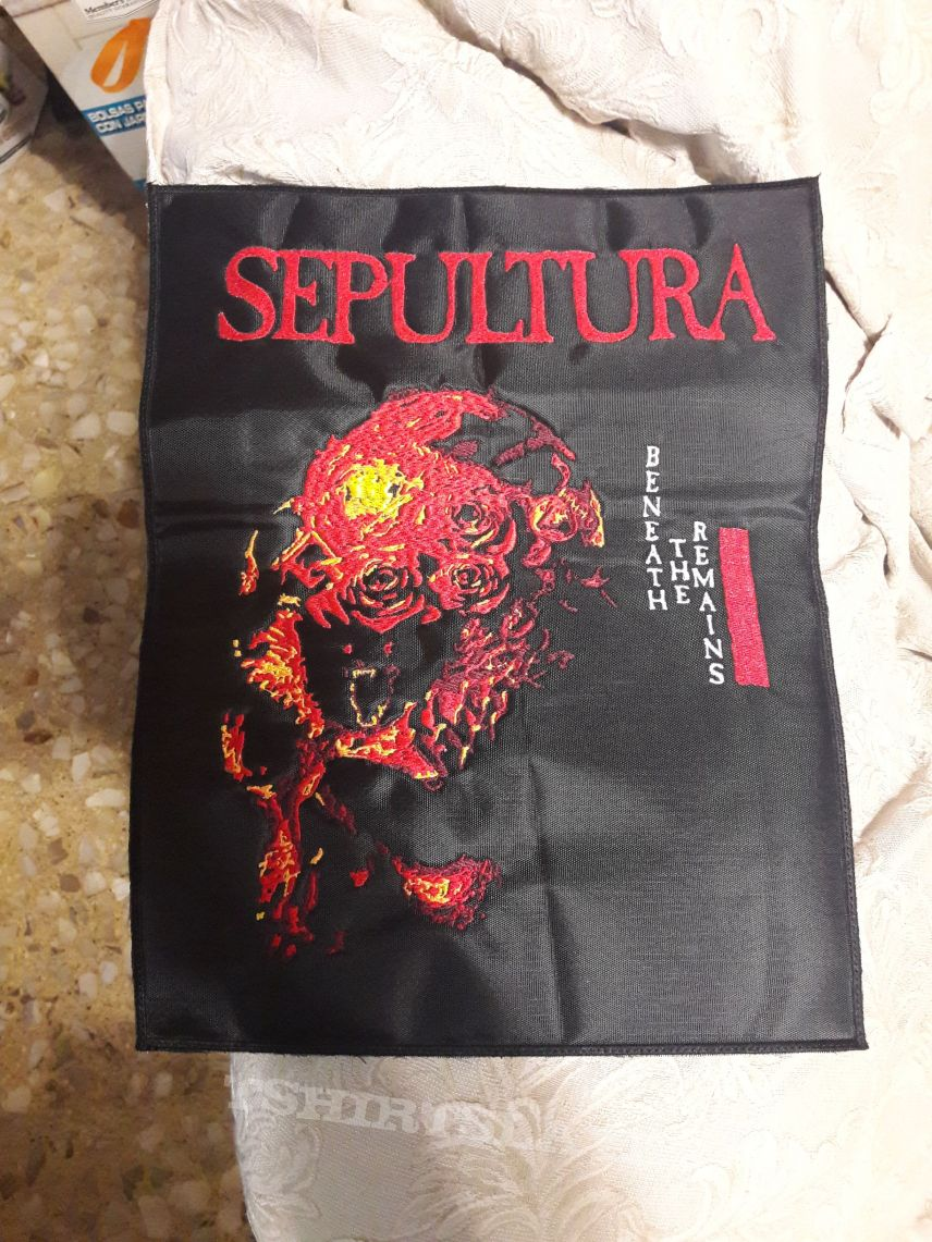 Sepultura beneath the remains back patch