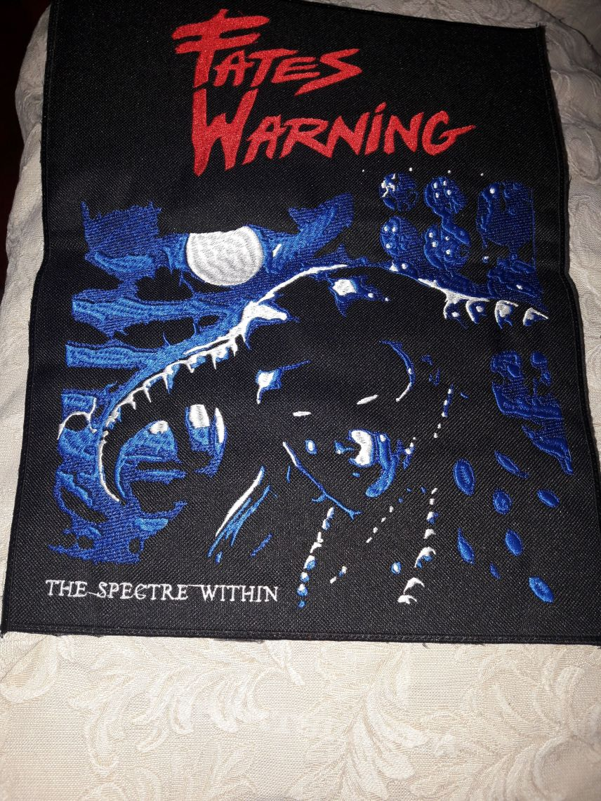 Fates Warning spectre within back patch