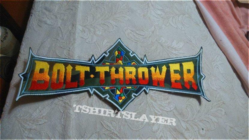 Bolt Thrower camo back logo patch