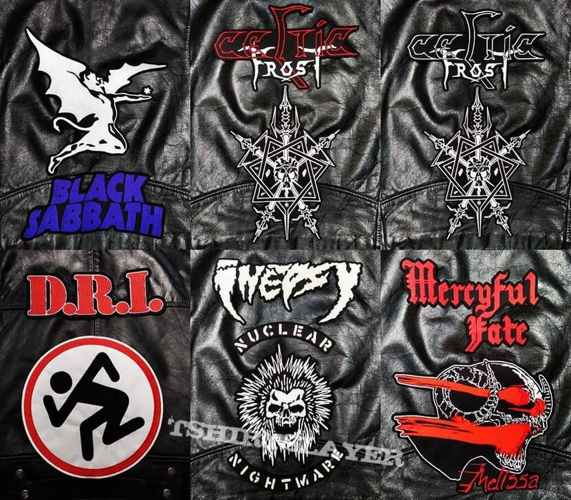Embroidered back patches