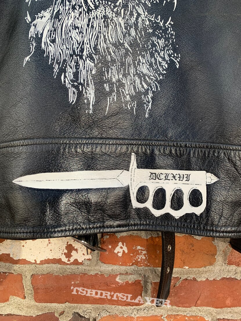 Proclamation – Execration Of Cruel Bestiality Hand-Painted Leather Jacket