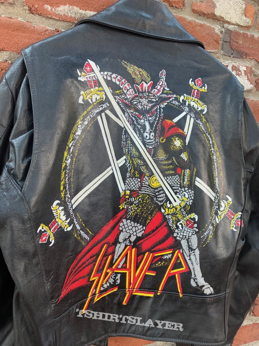 Slayer - Show No Mercy Hand Painted Leather Motorcycle Jacket