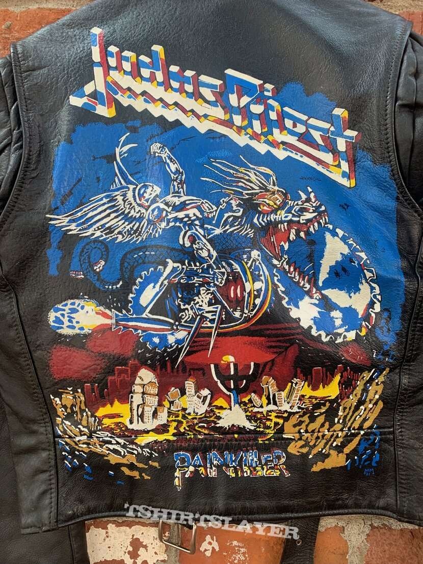 Judas Priest - Painkiller Hand Painted Leather Motorcycle Jacket