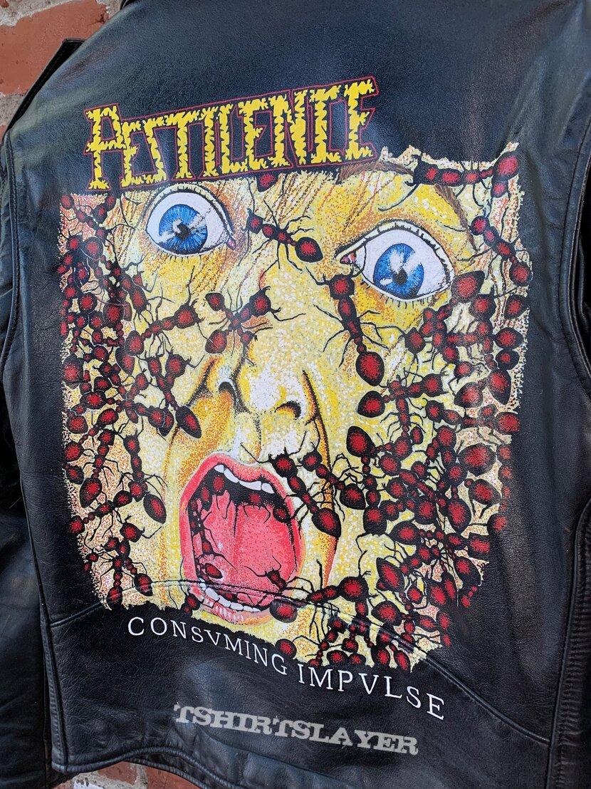 Pestilence - Consuming Impulse Hand-Painted Leather Jacket