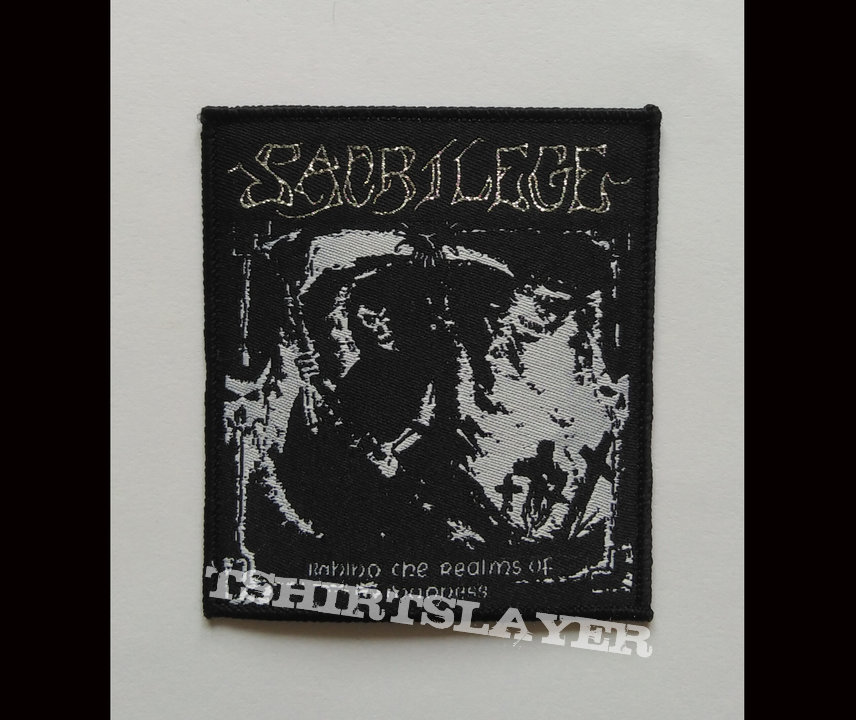 Sacrilege woven patch
