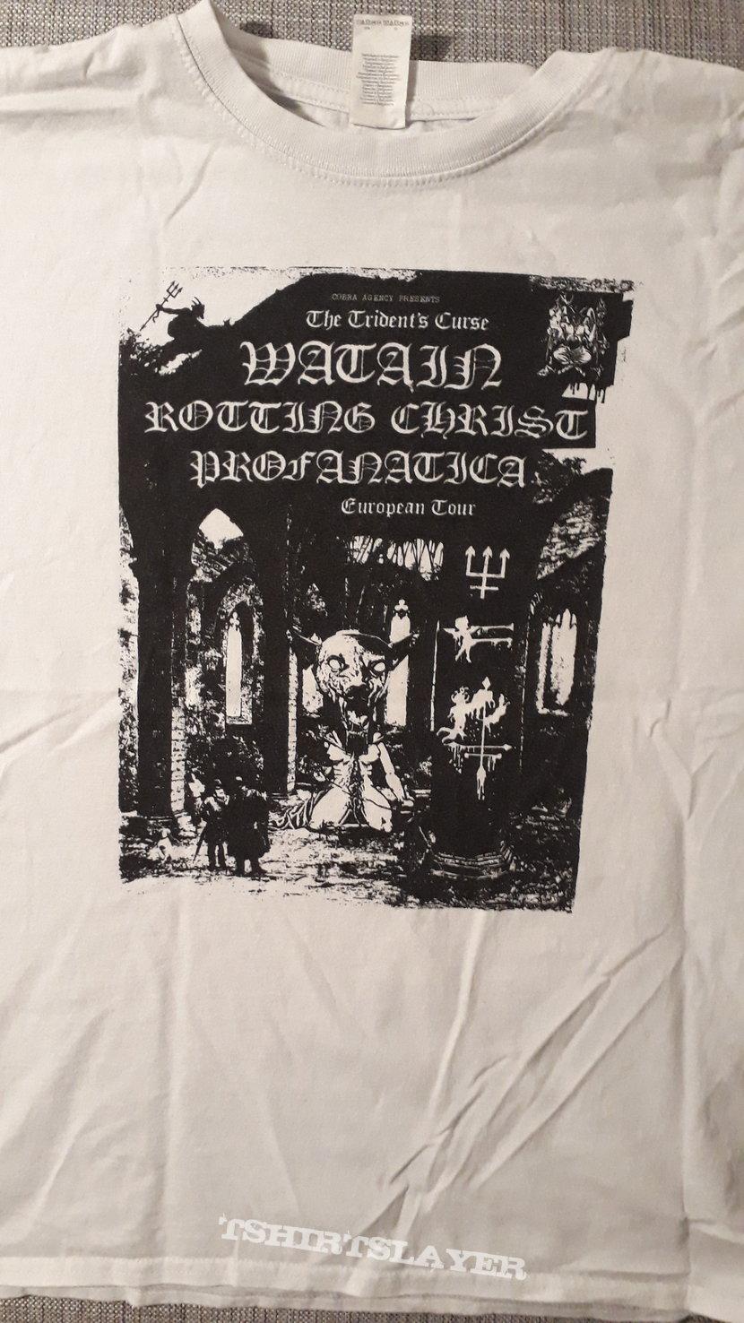 Watain, Rotting Christ, Profanatica Tour Shirt