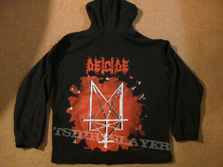 "Orig. Deicide-""Trifixion""-Hoody (Blue grape merch.) size XL"