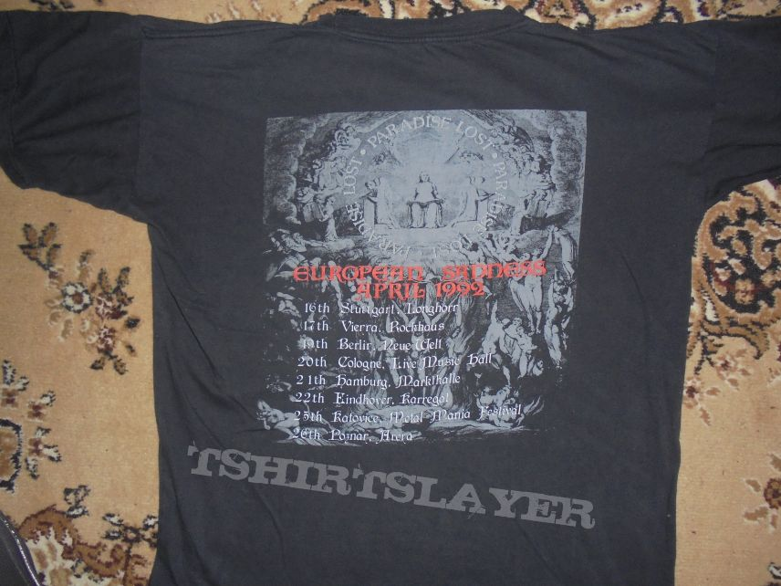 Paradise Lost-European Sadness Tour 1992-Shirt XL
