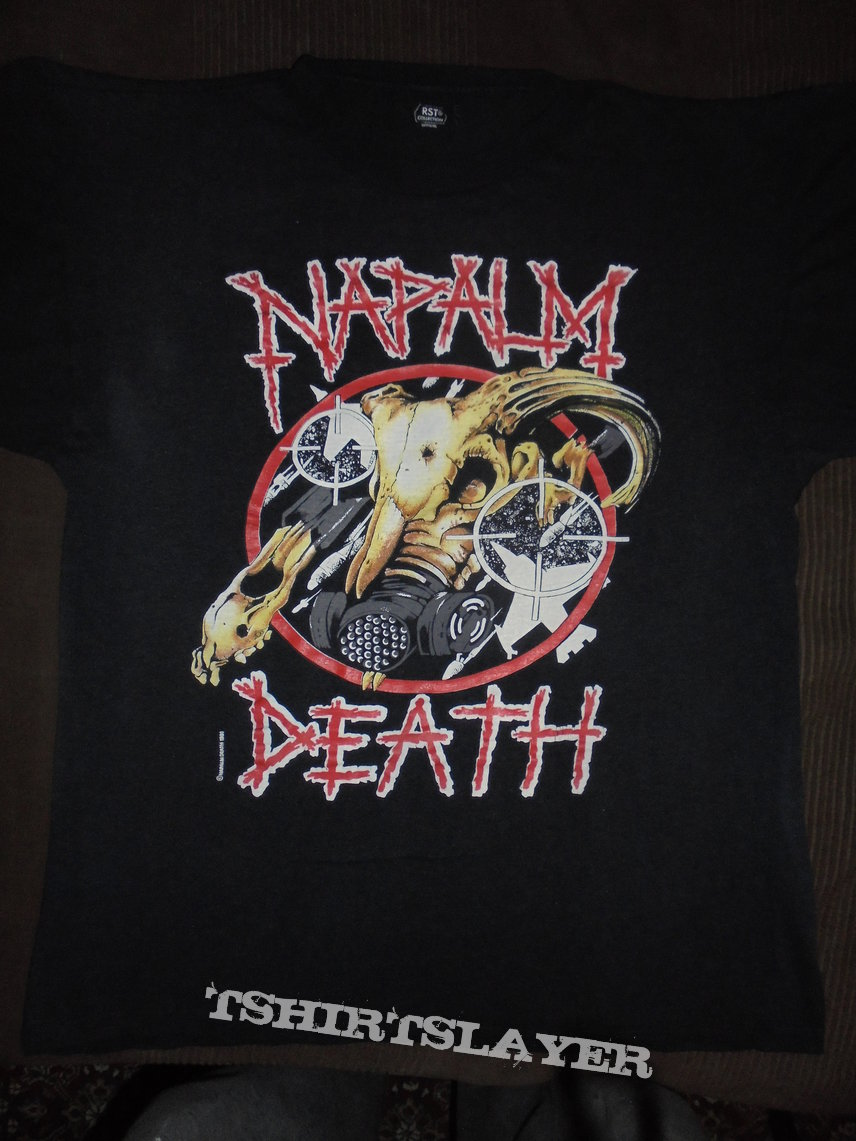 NAPALM DEATH - us tour 1991 OG © Napalm Death 1991 TS