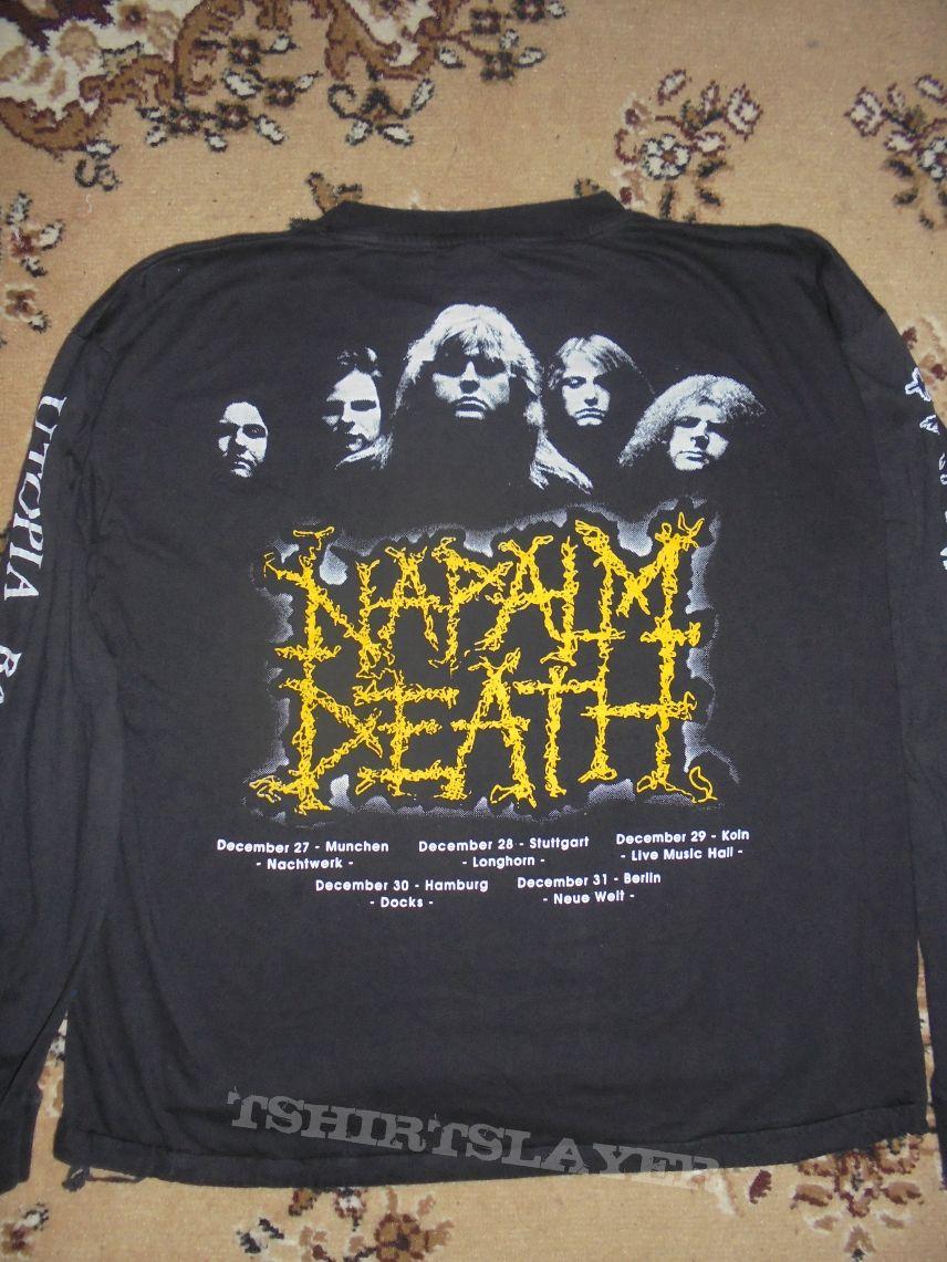 Napalm Death - Utopia Banished Tour-LS  Brilliant merch. size: L/XL