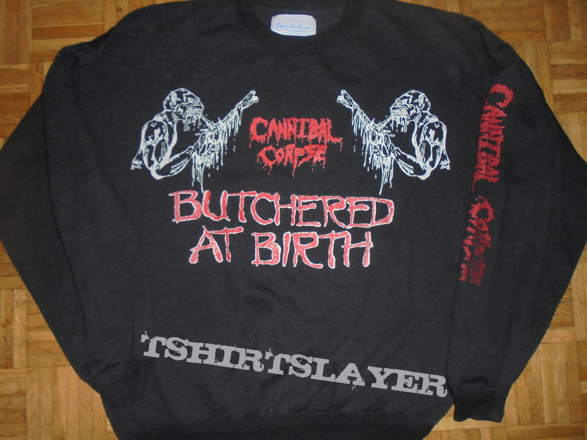 Cannibal Corpse- Butchered at birth - sweater  size XL