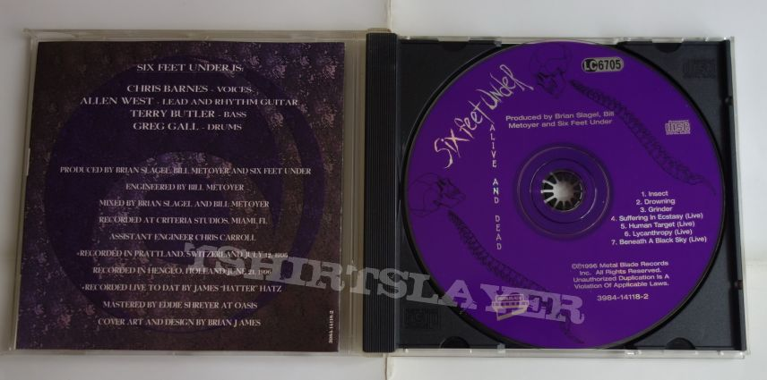 Six Feet Under - Alive and dead - CD