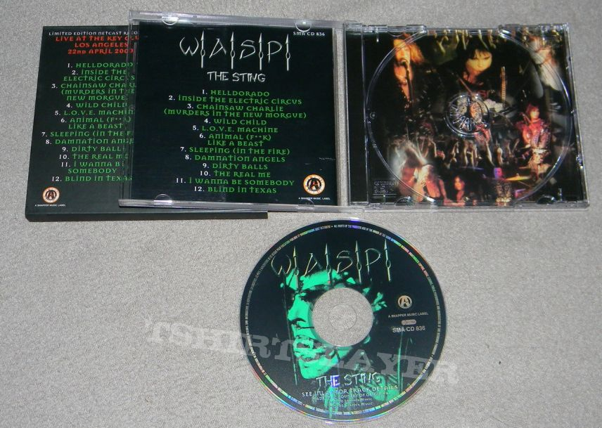 W A S P  - The sting - orig Firstpress - CD | TShirtSlayer