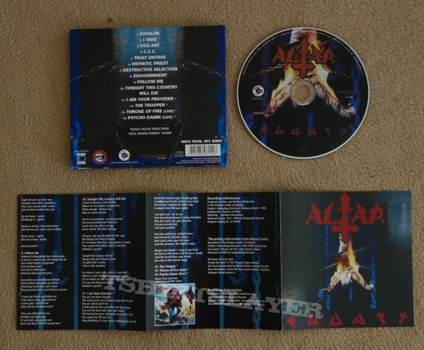 Altar - Ego art - Re-release CD