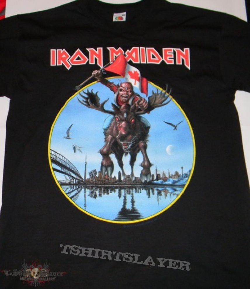 Iron maiden canada event shirt 2012 tshirtslayer for Banded bottom shirts canada
