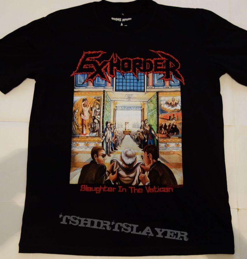 Exhorder /'Slaughter In The Vatican/' T-Shirt NEW /& OFFICIAL!