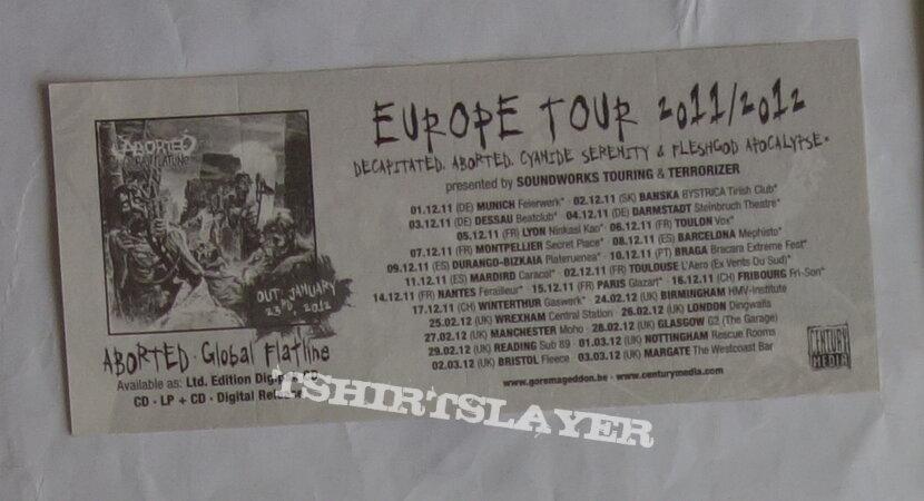 Aborted - Global flatline - Promo sticker