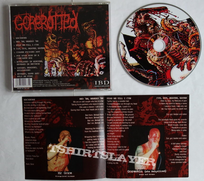 Gorerotted - Mutilated in minutes - Re-release CD