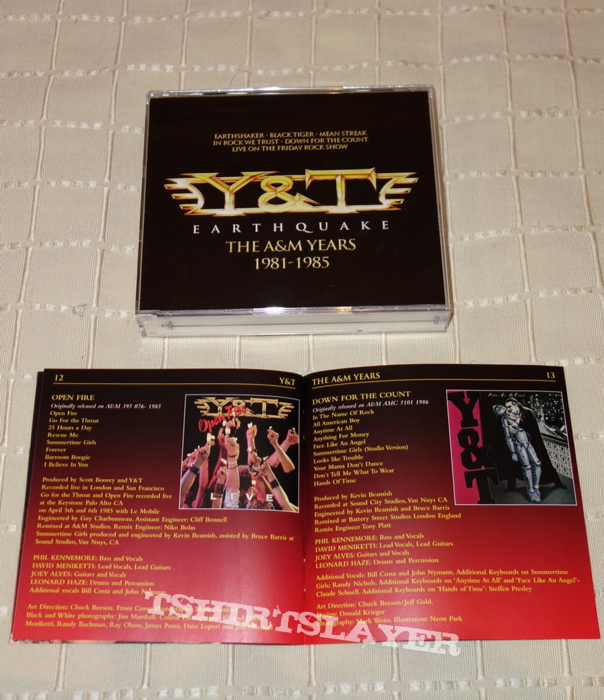 Y & T - Earthquake - The A&M Years - Box
