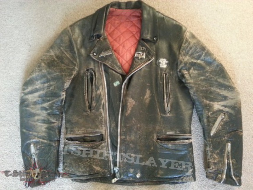 doomy1's Death, Anthrax, Old leather jacket Battle Jacket