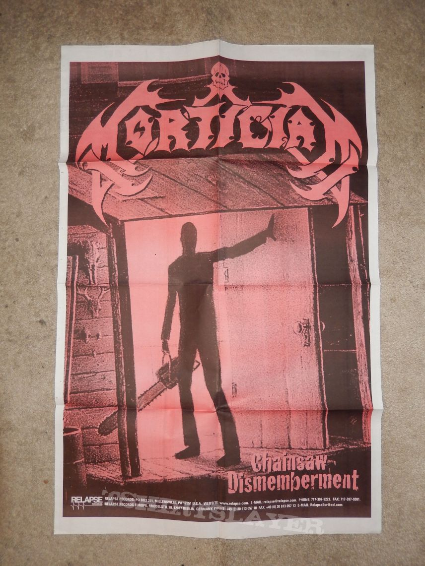 Mortician Chainsaw Dismemberment Promo poster